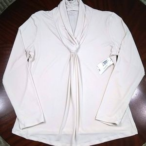 NWT! Grace Cream Knotted Pullover Blouse